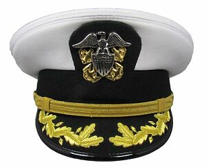 005591f18c7 Image is loading Cap-US-Navy-Style-Officers-White-Uniform-Cap-
