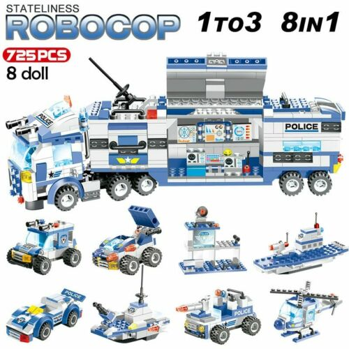 8 IN 1 Truck Station Building Blocks Lego City Special Police Series SWAT DLL