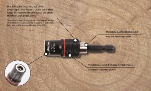 """Bit Magnethalter 1//4/"""" Bithalter mit Ringmagnet Zugkraft 5kg Profi"""