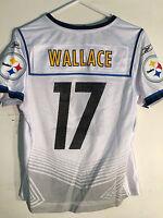 Reebok Women's Nfl Jersey Pittsburgh Steelers Mike Wallace White Super Bowl Sz S