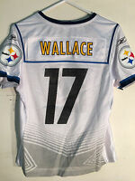 Reebok Women's Nfl Jersey Pittsburgh Steelers Mike Wallace White Super Bowl Sz S