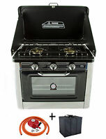 Camping Gas Oven Portable Stainles Steel Outdoor Caravan 2 Burners Hob Co-01