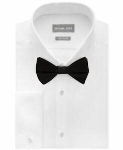 225-Michael-Kors-15-34-35-Men-039-S-Fit-White-French-Cuff-Tuxedo-Cotton-Dress-Shirt