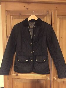 Barbour-Quilted-Jacket-Black-Size-10