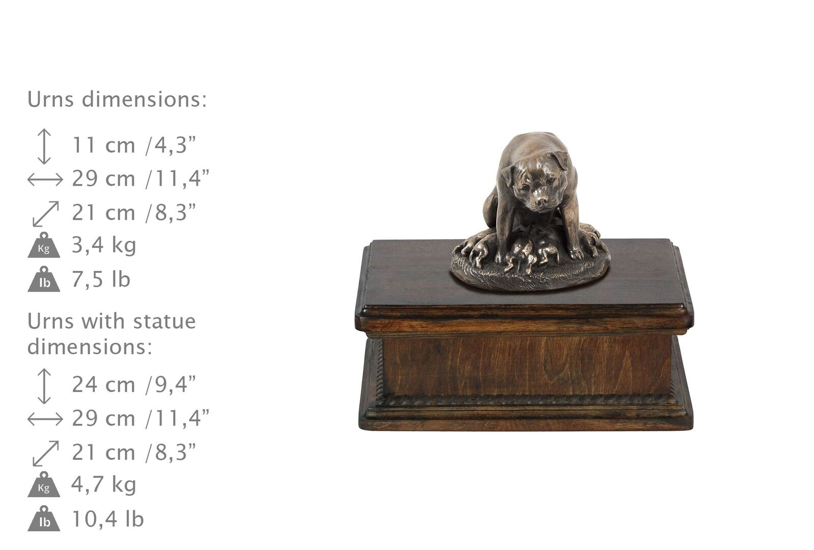 rossotweiler type 2 2 2 - exclusive urn with dog statue, High Quality, Art Dog 6b8412