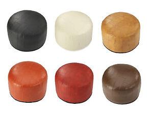 Kunstleder-Sitzkissen-Sitzhocker-Fusskissen-Fuss-Hocker-Pouf-Bodenkissen-Patchwork