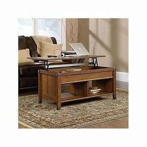 Coffee Table Lift Top Hidden Storage Cocktail Cherry Finish Living Room New