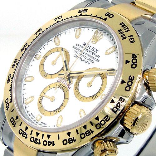 UNWORN ROLEX DAYTONA 116503 STEEL GOLD TWO TONE WHITE DIAL OYSTER BRACELET
