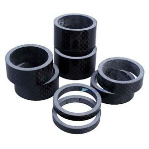 "10Pcs Carbon Fiber Bike Spacers Bicycle Headset Washer 1-1//8/"" 3//5//10//15//20mm"