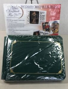 Creative-Memories-Green-5x7-Cloth-Scrapbook-Album-New-with-10-Pages-amp-Refill