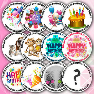48-Personalised-Birthday-Stickers-Labels-Thank-You-For-Coming-To-OUR-Party-TWINS