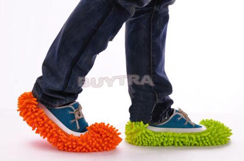 Lazy Mopping Schuhboden Mopper Slipper Mop Cover Reiniger Reinigung Fuß SockeWR