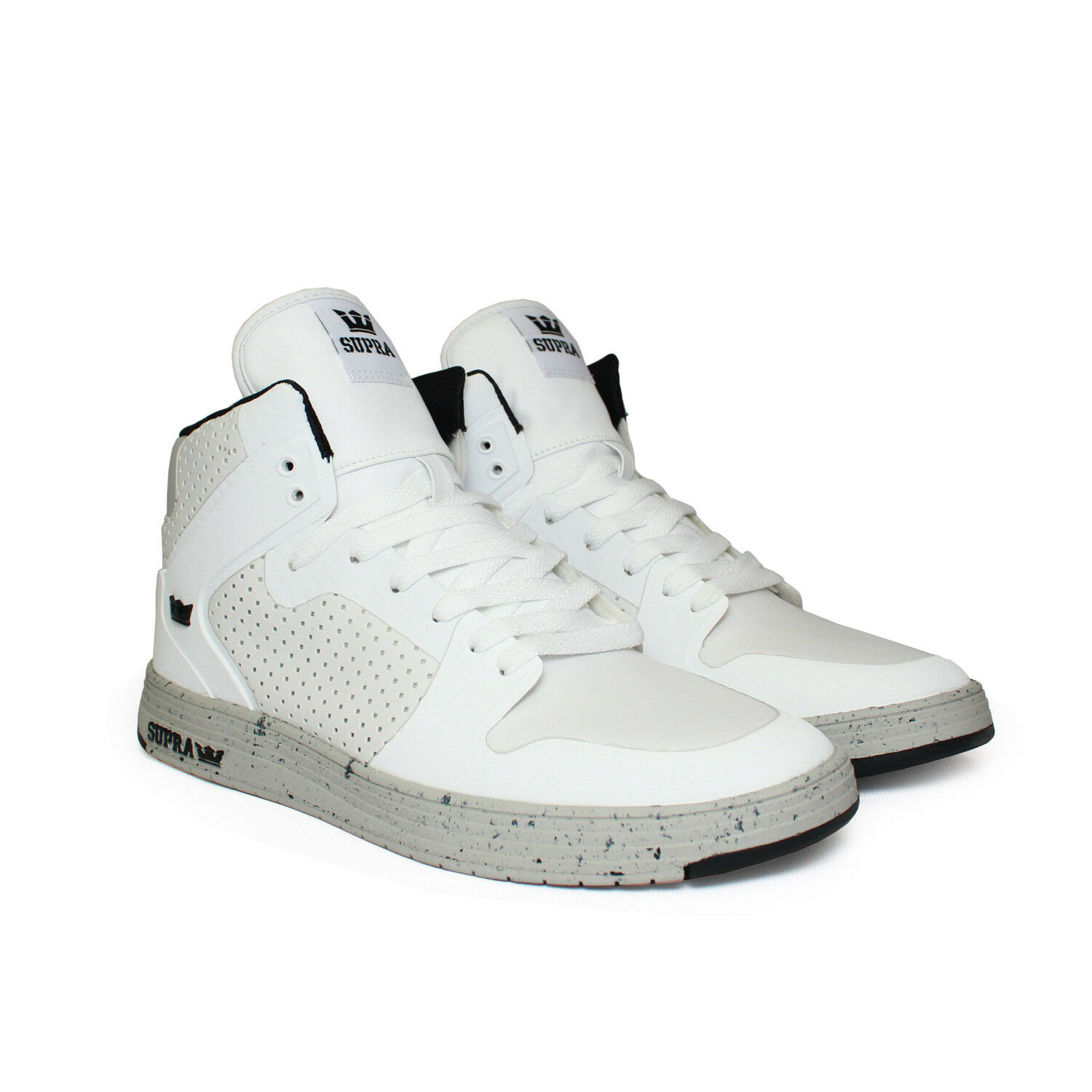 SUPRA Mens Vaider 2.0 LX High Top Sneaker White Light Grey Size 9 US