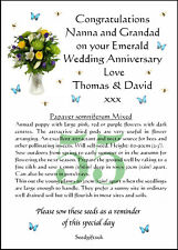 Personalised 25th Silver Wedding Anniversary Gift with Poppy seeds