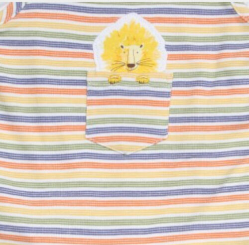 Ex BHS Baby Boys Lion Zoo Animal Stripe Dungarees /& Top Age 0 3 6 9 12 Months