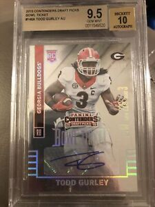 Todd Gurley 2015 Panini Contenders Bowl Ticket ROOKIE AUTO /99 RC BGS 9.5