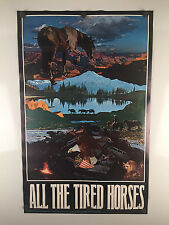 "1970 ""All The Tired Horses"" Vintage Poster by East Totem West 18X29 Head Shop"