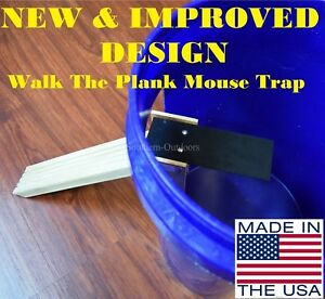 New & Improved Walk The Plank Mouse Trap - Auto Reset - USA MADE