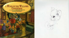 Michael Hague SIGNED AUTOGRAPHED A Wind In the Willows Christmas SKETCH HC 1 ED
