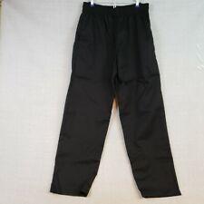 Black Chef Baggy Pants 2xl Unisex C15 Fame Fabrics Elastic Waist Pockets 81124