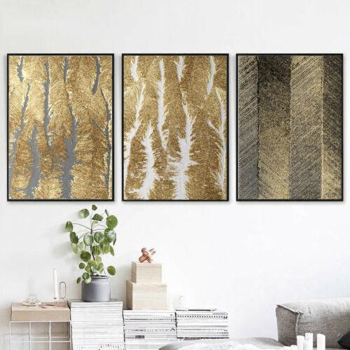 Black Gold Foil Texture Canvas Poster Modern Home Art Wall Hangings Decor
