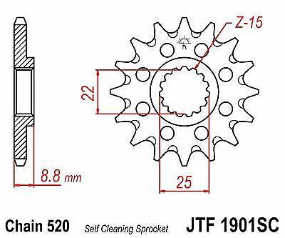 Husaberg TE250 11-14 JT Front Sprocket JTF1901SC 13 Teeth