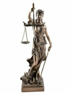 Veronese-giustizia-romana dea-SPADA-bronziert - 33 cm-diritto -