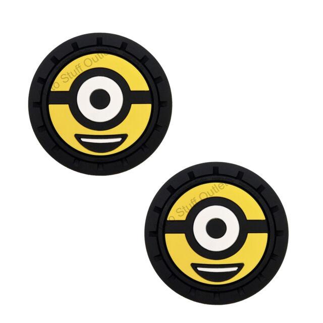 Universal Despicable Me Minions Auto Cup Holder Coaster 2 Pc Set