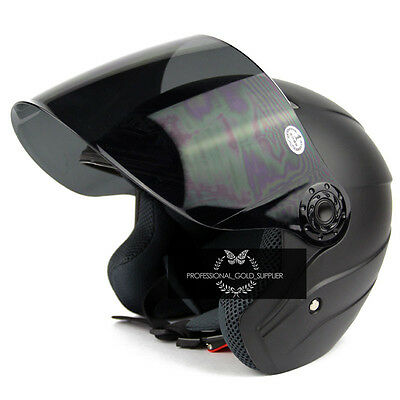 NEUF Convertible Moto Scooter Cyclomoteur Modulable Casque Visière Taille M-2XL