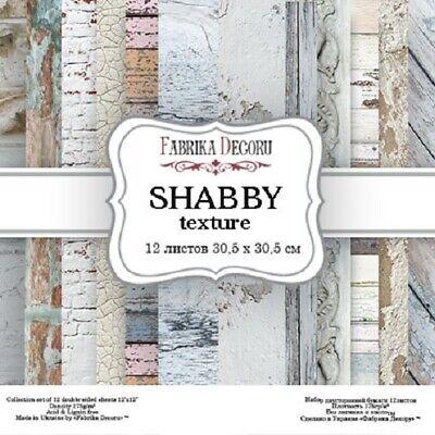 """12"""" X 12"""" Recortes Cartulina Shabby Textura Paperpad 12 Diseños/12 Hojas Precio Bajo"""
