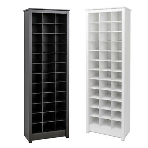 Tall Narrow Shoe Rack.Details About Shoe Storage Cabinet Cubby Storage Rack Tall Narrow Space Saving 36 Pairs Wood