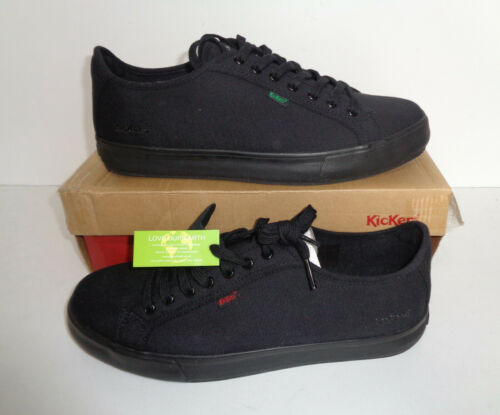 Kickers Mens New Black Casual Lace Up Trainers Shoes RRP £55 UK Size 10.5