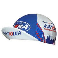 Euro Team Flip Visor Cycling Cap Katusha 2010 Russian Itera Santini Gazprom Hat