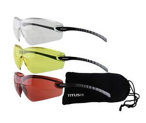 e3af15adc7c Image is loading Titus-Safety-Glasses-Shooting-Eyewear-Motorcycle-Protection -ANSI-