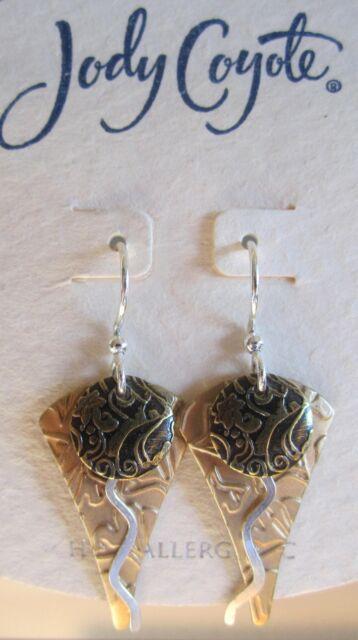 Jody Coyote Earrings JC0159 New hypoallergenic silver gold