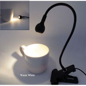 DURADERO Clip Mini Led Lámpara de Trabajo USB Ajustable Flexo Mesa Luz Lectura