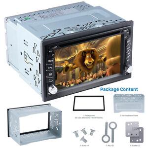 Metal-2DIN-Car-Radio-Frame-Fascia-Dash-Panel-for-DVD-Player-Stereo-Mount-Trim-BT