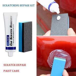1Set Car Scratch Remover Polish Cloth & Car Body Compound Paste Sponge Kit New