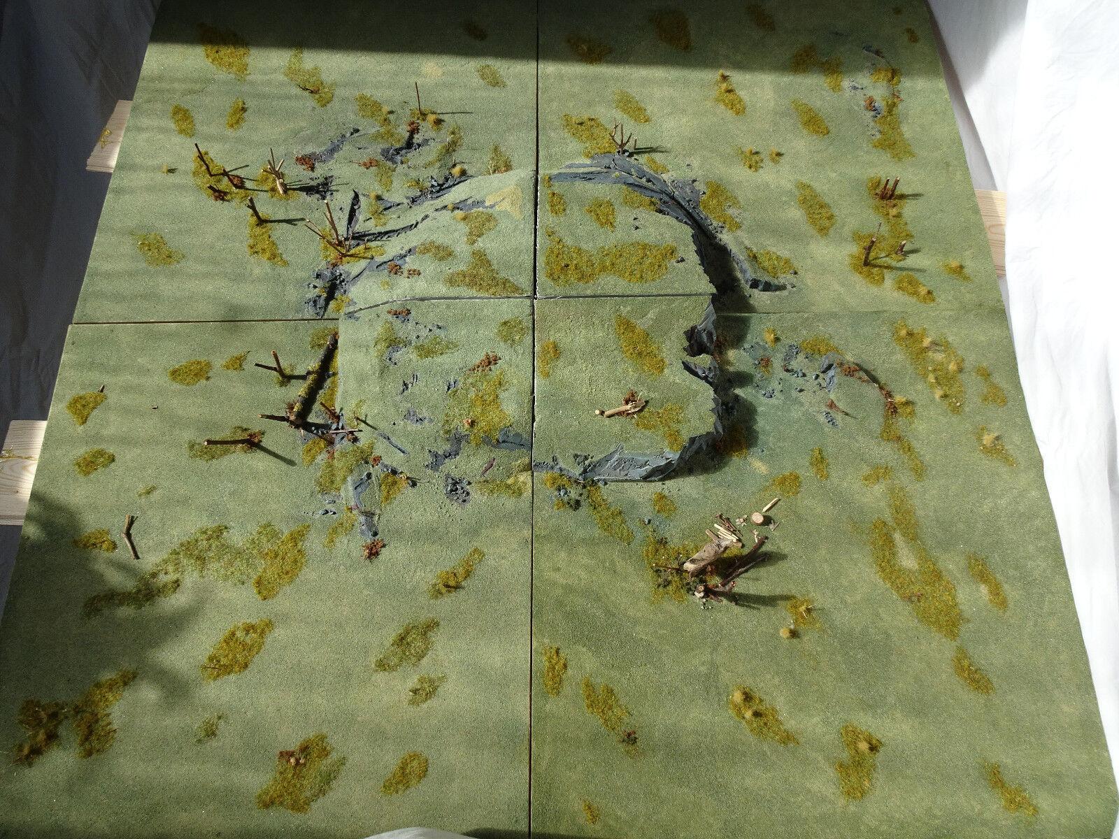 Autumn Pastures Modular Terrain 4 Tiles -Wargame Gaming Board Hills