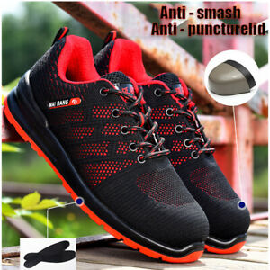 Women Safety Work Air Shoes Indestructible Steel Toe Ventilation Bulletproof New