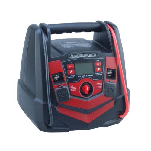 /& 12V//USB Jump Starter Air Compressor 5 in 1 Portable Power Pack Worklight