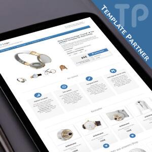 Ebay-Template-CRYSTAL-Ebay-Designer-Template-Responsive-matt-blau-Editor
