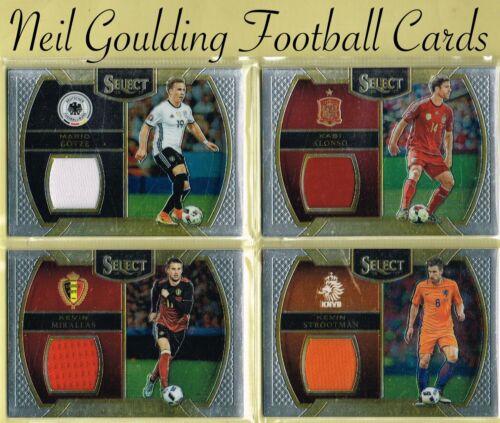 Sélectionnez Soccer 2016-2017 ☆ Jersey//souvenirs//Relic ☆ Football Cartes