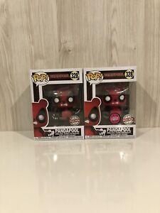 Marvel-Deadpool-Pandapool-Normal-And-Flocked-Chase-Set-Funko-Pop-Vinyl