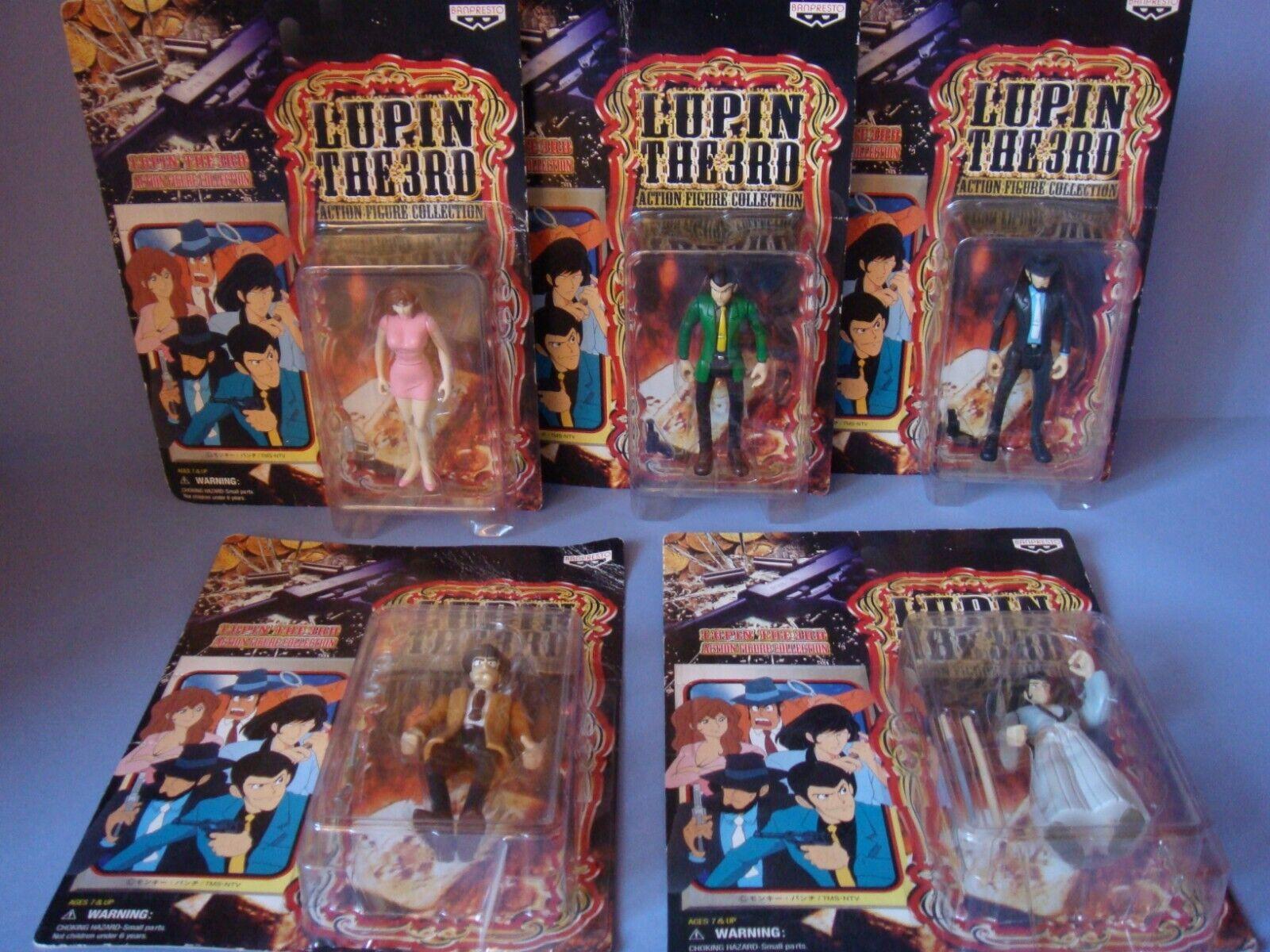 Lot Figurines set Lupin The 3 Edgar   blister Banpresto neuf TMS nuovo  garanzia di qualità