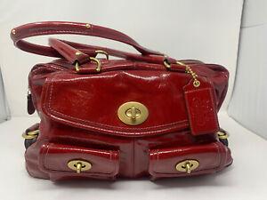 Coach Legacy 13051 Red Patent Peyton