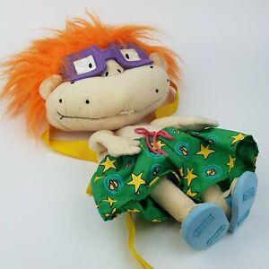 Vintage-Rare-Nickelodeon-Rugrats-Chuckie-Backpack-Viacom-1999