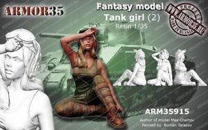 1-35-Resin-Figure-Model-Kit-Sexy-Girl-Soldier-no-TANK-Unassamble-Unpainted-513