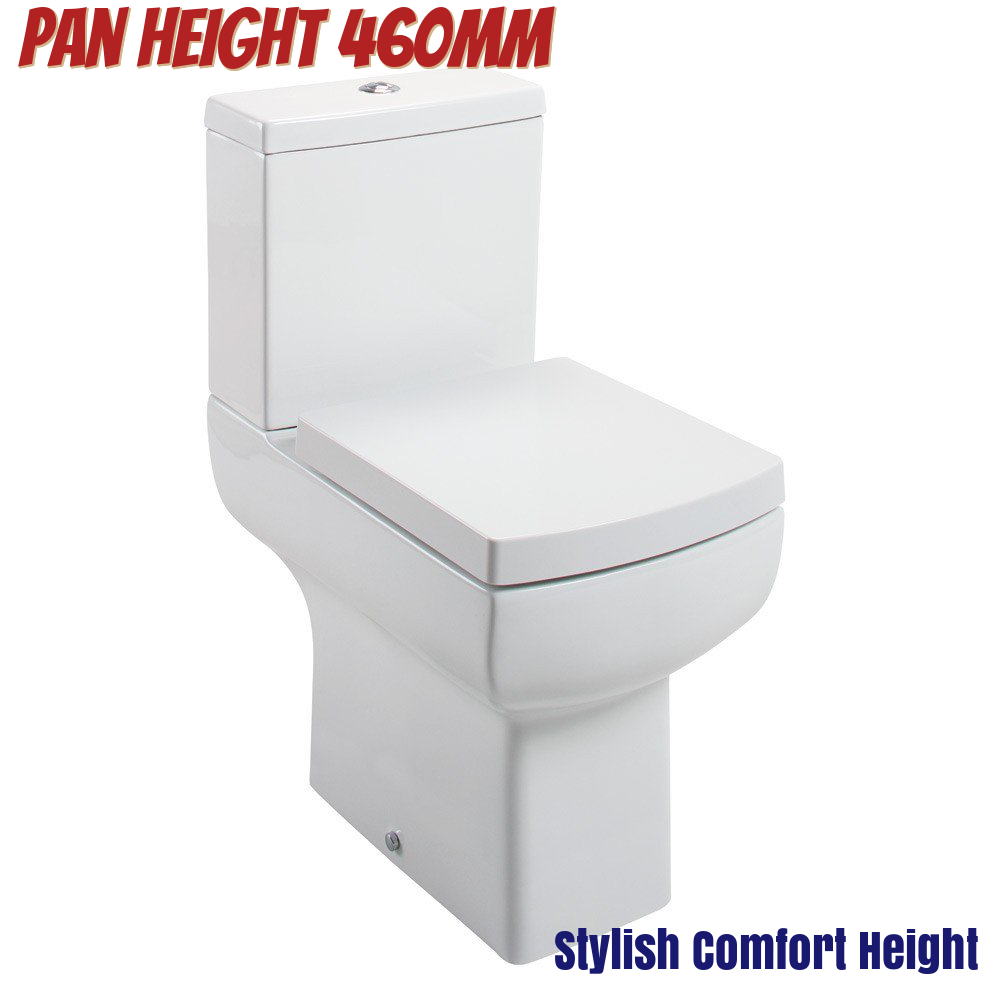 Modern Square Raised Height Comfort High Tall Disabled