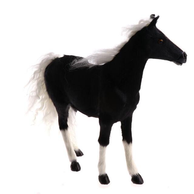 Lebensechte Plüsch Gefüllte Pferd Tierfigur Weiches Kind Spielzeug Dekoration